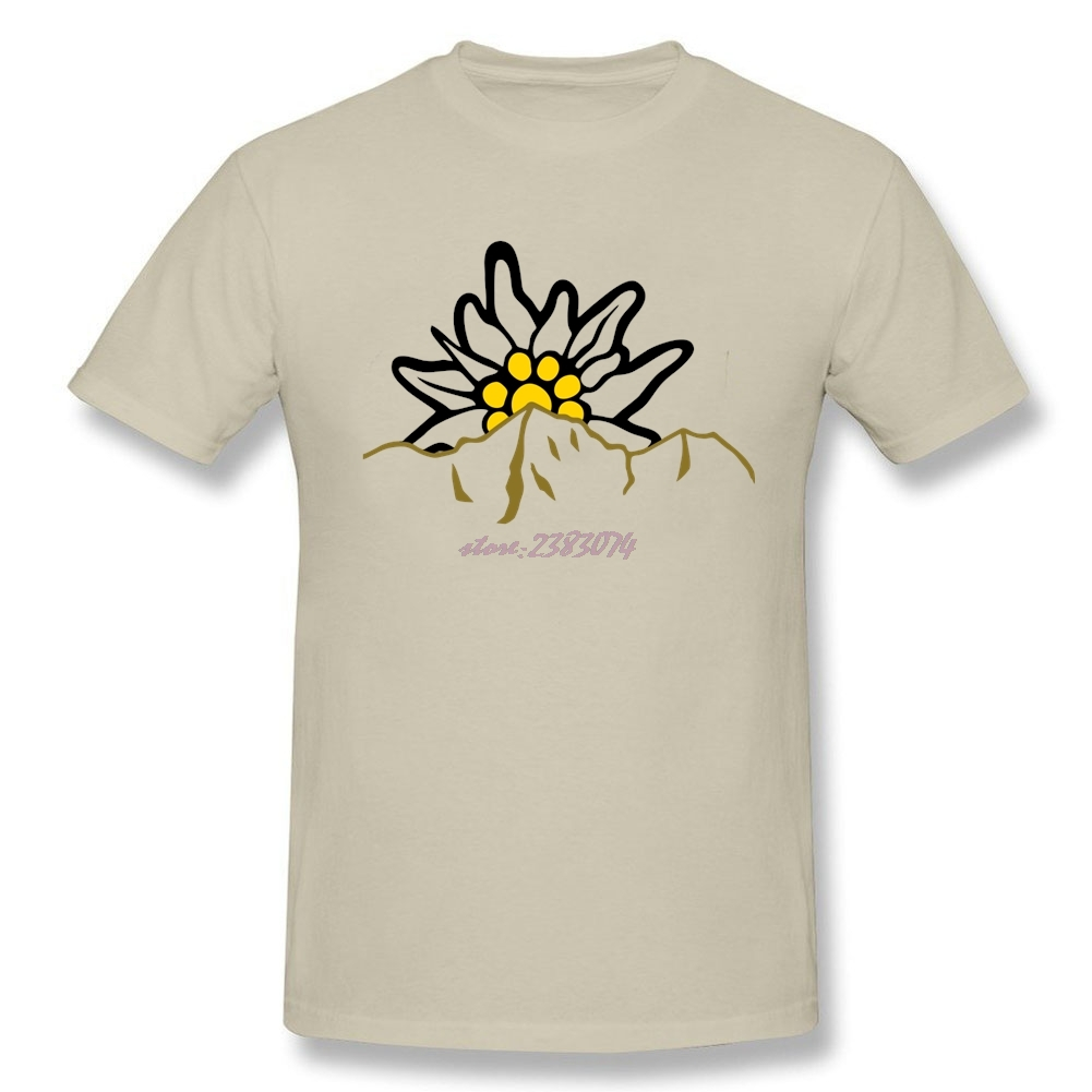 Design your own t shirt las vegas - Funny Adult Mountain With Edelweiss Organic Cotton O Neck Summer Men Apparel Tees Design Your Own T Shirt