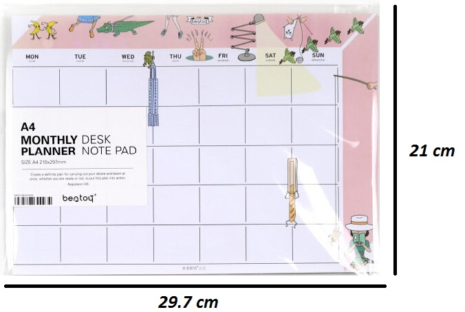Cute Monthly Organizer Planner Desk Note Pad Business Schedule To Do - college organizer