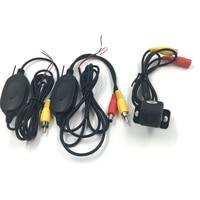 Yeni Araba Kare Kamera Otomatik Ters Yedekleme Park Kamera + 2.4G Kablosuz Verici Alıcı GPS Arka Görüş Kamerası