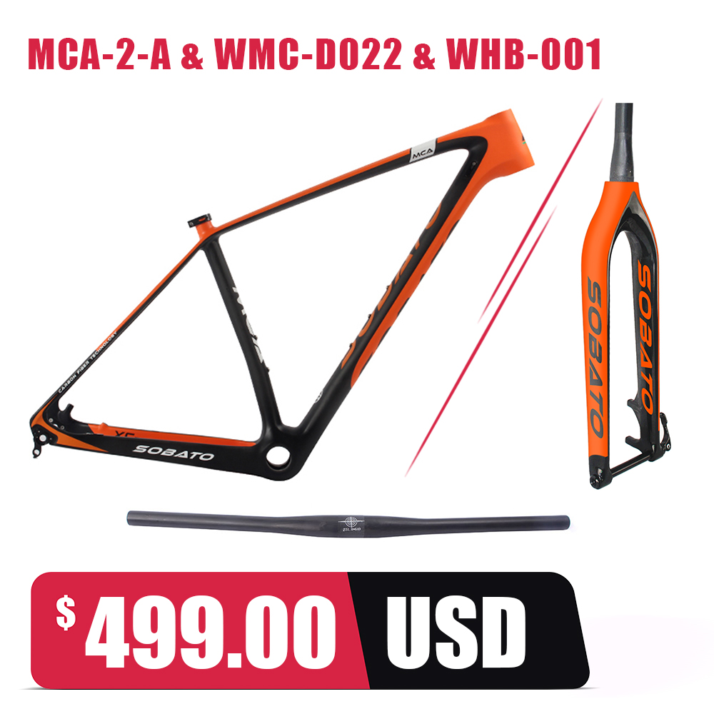 Full Carbon Mountain Bike Frame 29er Glossy/matt Carbon Fiber MTB Bicycle Framesets with Fork цена