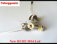 Free Shipping 2Pcs New Xenon White 18W Samsung 3014SMD H3 LED Fog Light Bulb Car Driving