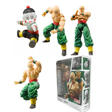 Anime Dragon Ball Z SHF Figuarts Tien Shinhan & Chiaotzu Joint Movable PVC Action Figure Collection Model Kids Toy Doll 16cm 100% original bandai tamashii nations s h figuarts shf action figure battle droid geonosis color from sw