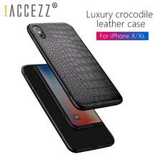 !ACCEZZ Retro Vintage Crocodile Snake Cover Shell For iPhone X 10 Soft PU Leather Cases 6 6s 7 8 Plus Fundas Coque