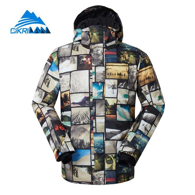 a584804c20 Mens Winter Windproof Waterproof Outdoor Jackets Snow Ski Jacket Skiing  Snowboard Coat Padded Sport Hiking Snowboarding
