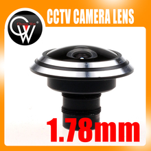 Metal 1.78mm lens wide Angle fisheye lens 180 degrees of entrance guard lens For cctv camera Free shipping