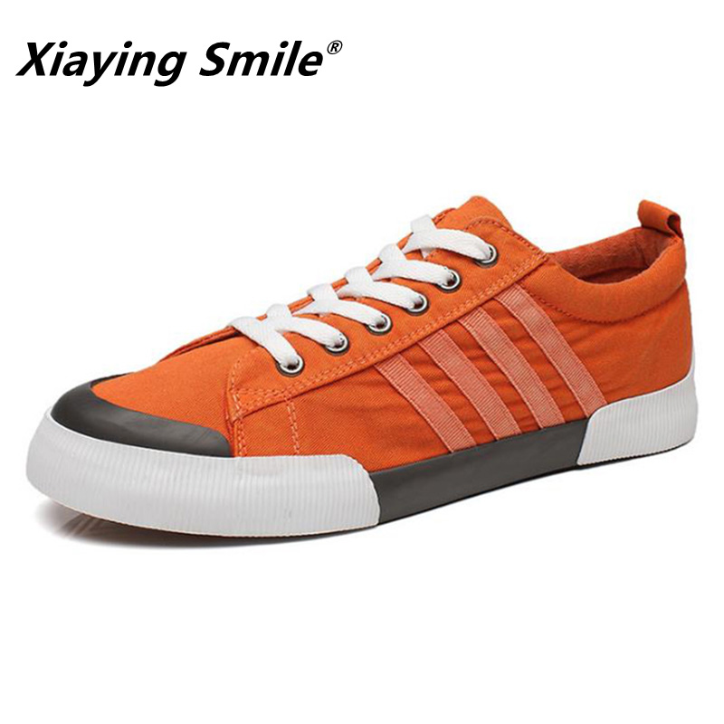 2018 Ny stil Mäns Canvas Skor Flat Tennis Sneakers Walking Footwear - Herrskor