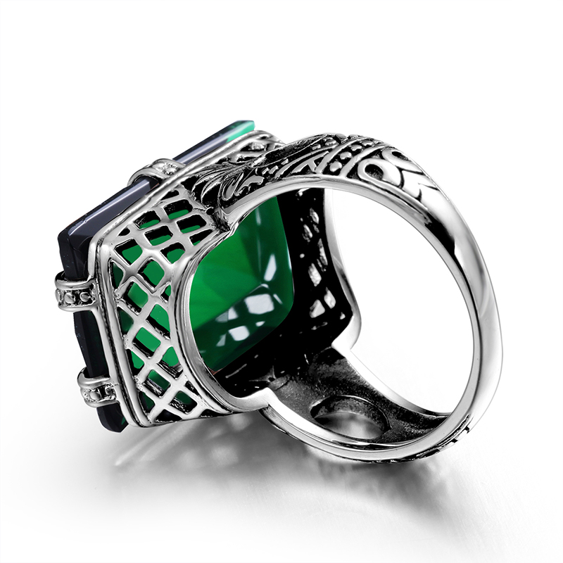 Image 4 - Szjinao Emerald Ring 4.8ct Green Vintage 925 Sterling Silver 