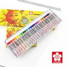 Pastels Wax Crayon Sakura-Oil Drawing Non-Toxic Kids for Students Safe Japan Xep-12/16/25-/..
