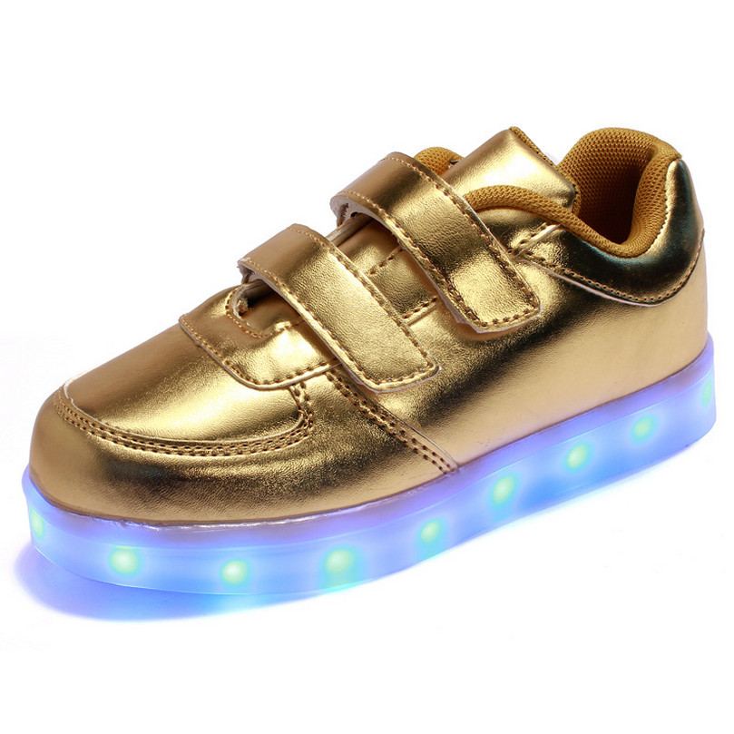 Spring Chaussure Lumineuse Enfant USB Kids Light Up Shoes