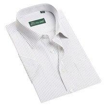 New 2017 Mens short sleeve shirts male striped formal dress shirt work wear easy care spring summer shirt men 14colors big size