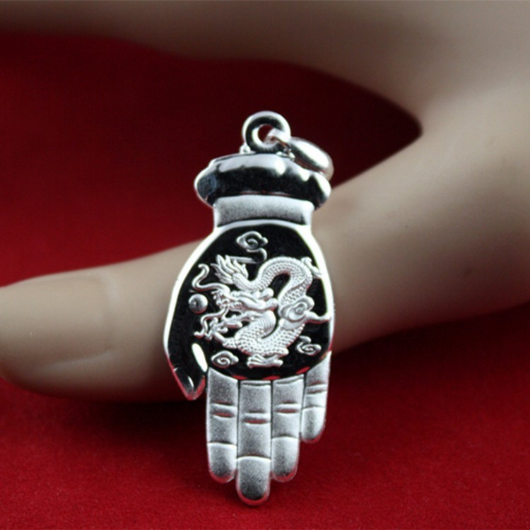 Pendentif zodiaque S999 argent fin solide en argent sterling couple pendentif Bouddha doigt citron énumérés fabricant en gros
