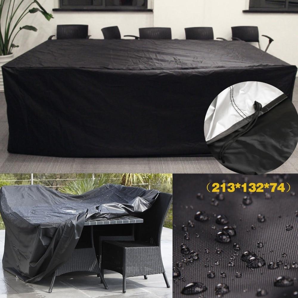Black Waterproof Outdoor Patio Garden Furniture Covers