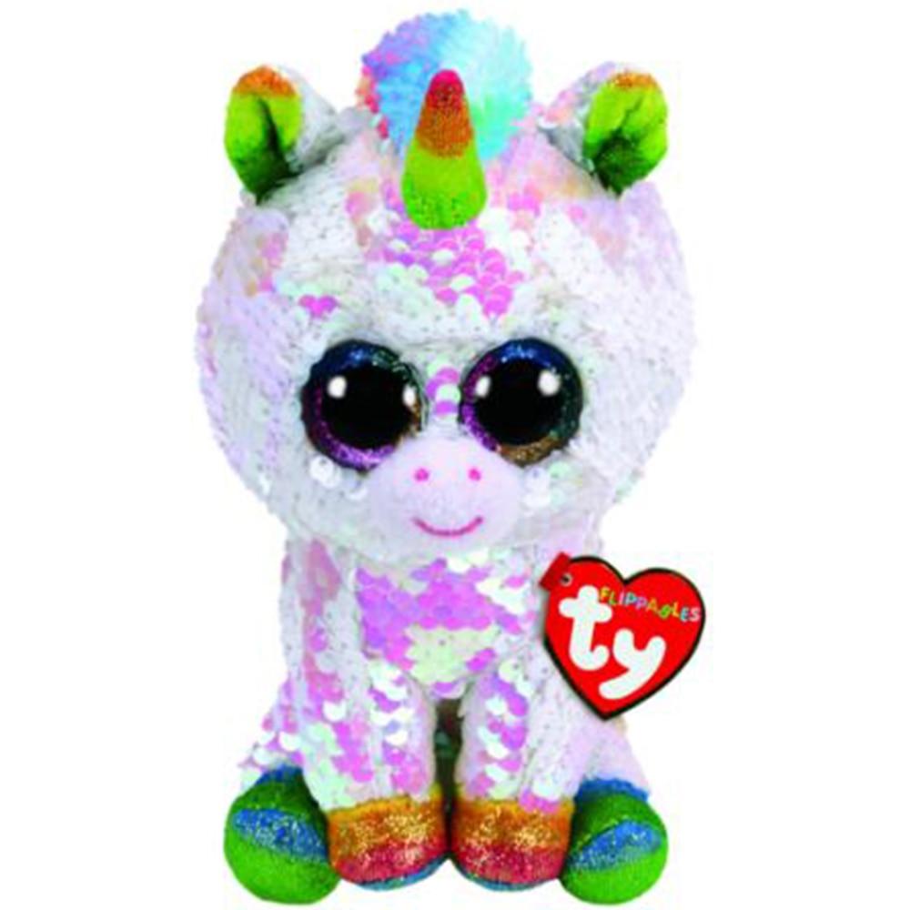 "Pyoopeo Ty Beanie Boos 6/"" 15cm Cherie the Unicorn Plush Regular Soft Big-eyed"