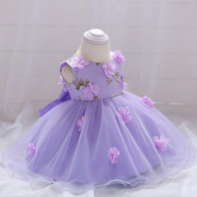 Newborn Baby Dresses Flowers Butterflies Purple Pink vetement bebe fille Vestido infantil Vestidos Bebe recien nacido flores женское платье booming jelly v 2015 vestido vestidos 141029 page 4