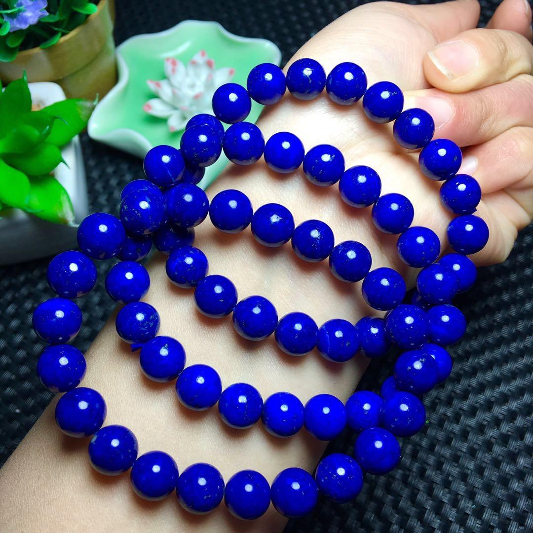 Drop Shipping Genuine Natural Lapis Lazuli Gemstone 3 laps Bracelet 9.5-8.5mm For Woman Female Crystal Stretch Gift Bracelets AADrop Shipping Genuine Natural Lapis Lazuli Gemstone 3 laps Bracelet 9.5-8.5mm For Woman Female Crystal Stretch Gift Bracelets AA