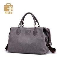Canvas Travel Shoulder Bag Large Capacity Men Handbag Duffel Weekend Tote Bags Women Canvas Overnight Duffle Tote Crossbody Bags