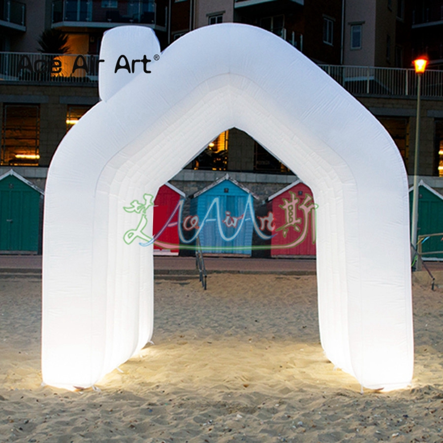 Tente gonflable extérieure attrayante de tunnel d'archway, allée gonflable pour l'événement/scène de mariage, événements de Sport