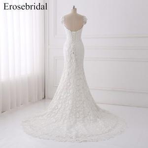 Image 5 - Seksi Illusion düğün elbisesi 2018 Erosebridal Bir Çizgi Bohemian düğün elbisesi es Fermuar Geri Zarif Sevgiliye Vestido De Noiva