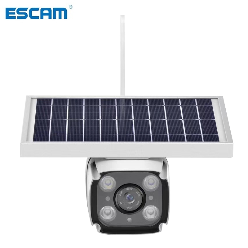 ESCAM QF460 4G Solar Camera with 2 way Intercom 5 5w Solar Panel PIR Motion Detection