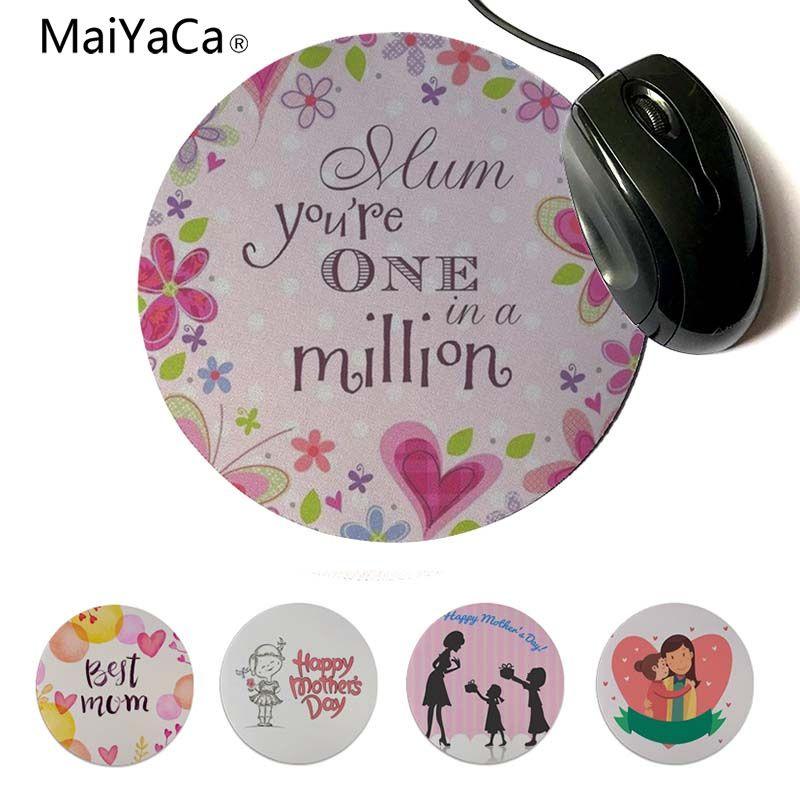 MaiYaCa Нескользящие ПК вы best мама в геймер Скорость мыши розничной небольшие резиновые Мышь pad 20x20 см 22x22 см диаметр круглый коврик для мыши
