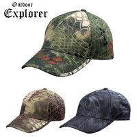 Men Baseball Caps Soldier Army Tactical Sniper Camouflage Caps Camp Sun Hike Hunt Traveling Hats CS Breathable