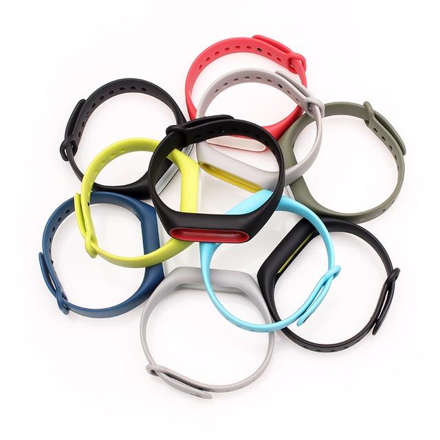 BOORUI Double color mi band 2 accessories pulseira miband 2 strap replacement silicone wriststrap for xiaomi mi2 smart bracelet 3