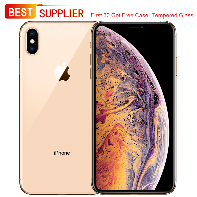 Unlocked Smartphone Apple iPhone XS Max  6.5 inch OLED A12 Hexa-core 12MP Dual Camera 64/256/512GB ROM Face ID 4G Mobile Phone(China)