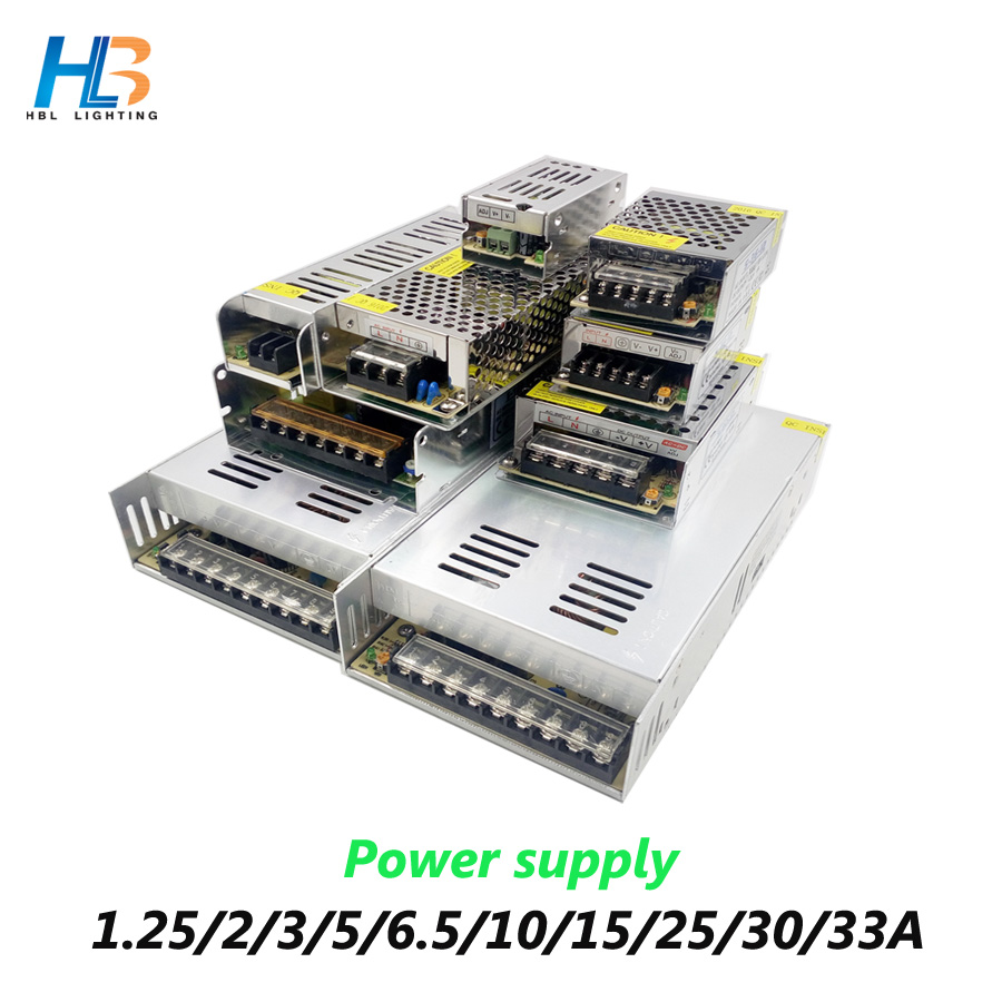 Power Supply 12V AC110-220V LED Driver 1A 2A 3A 5A 6A 10A 15A 20A 30A 33A Lighting Transformers Led power supply for Led Strip