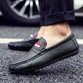 Mocassins de Couro dos homens Sapatos de Inverno Planas Homem Motorista Centavo Loafer Mocassins Sapatos Moda Casual
