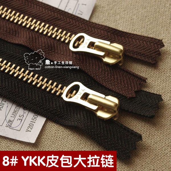 DIY handmade leather bags Men s Shoes No.8 YKK large gold copper metal  zipper closed end 20 ~ 50cm 7d47683a2