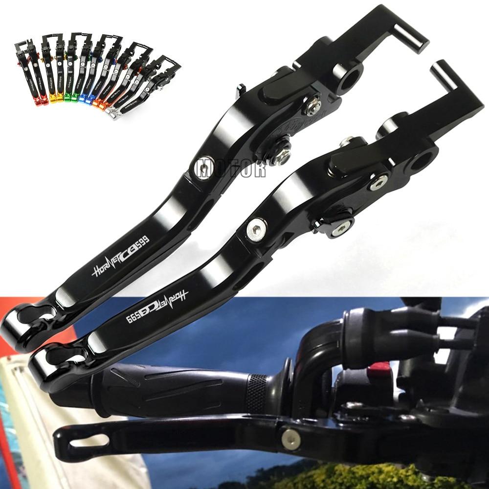 Pour Honda CB 599 CB599 HORNET 1998-2006 leviers d'embrayage de frein moto leviers rabattables réglables 2005 2004 2003 2002 2001 2000