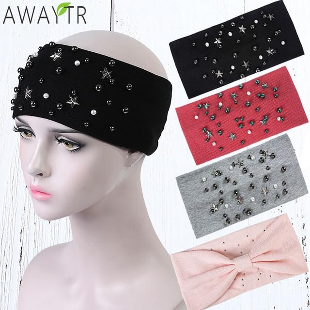 Twist Elastic Turban Head Band For Women Pearl Stars Headbands Head Wrap  Hairband Headwear Bandanas Hair Accessories Gifts 5d41dffe34c7