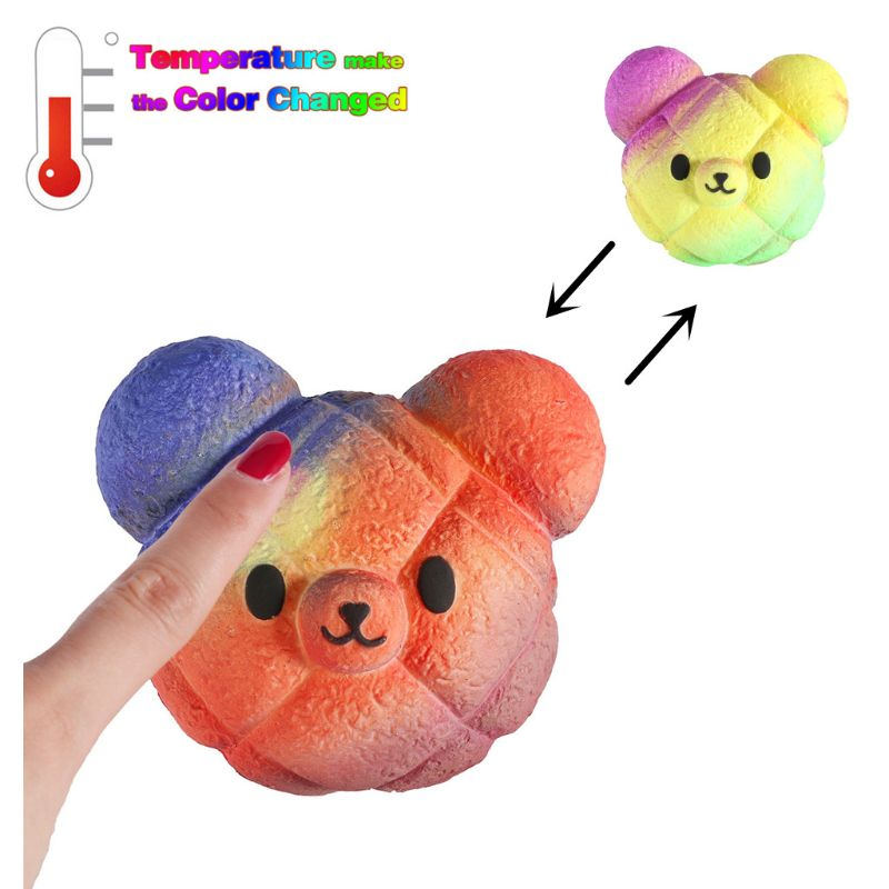 NEW Magic Bear Squishy Jumbo Squishies Toys Change Color Slow Rising Stress Relief Toy Squeeze Magic Toys Gift