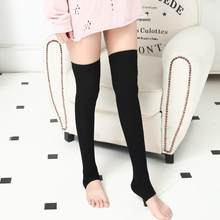 New Style Women Stockings Knit Long Boot Over The Knee High Slim Leg Thigh Stockings Breathable Cotton Pantyhose Soxs Hocoks#SMT(China)