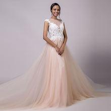 Свадебное платье с кружевной аппликацией sodigne романтичное