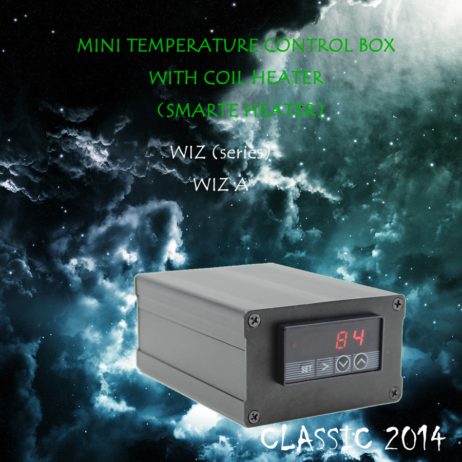 (CLASSIC 2014 ,WIZA , RED)TEMPERATURE CONTROL BOX NAIL COIL HEATER, TITANIUM NAIL,HOT RUNNER COIL HEATER,DIRECT MANUFACTURER! new 2016 w2 white mini temperature control box nail coil heater titanium nail electronic cigarette