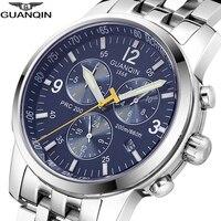 GUANQIN 2018  reloj de natación de la mejor marca  reloj de lujo para hombres  automático  200 m  impermeable  reloj mecánico para hombres  reloj Masculino Relojes deportivos     -
