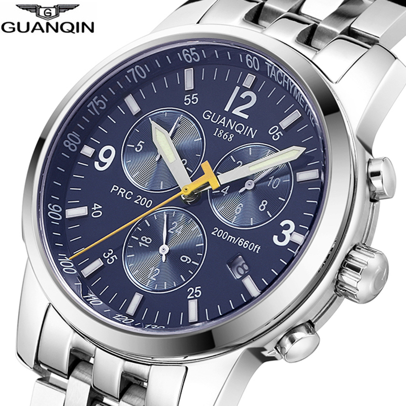 GUANQIN 2019 deep diving watch top brand luxury Clock Men Automatic 200m waterproof Mechanical clock men Relogio Masculino