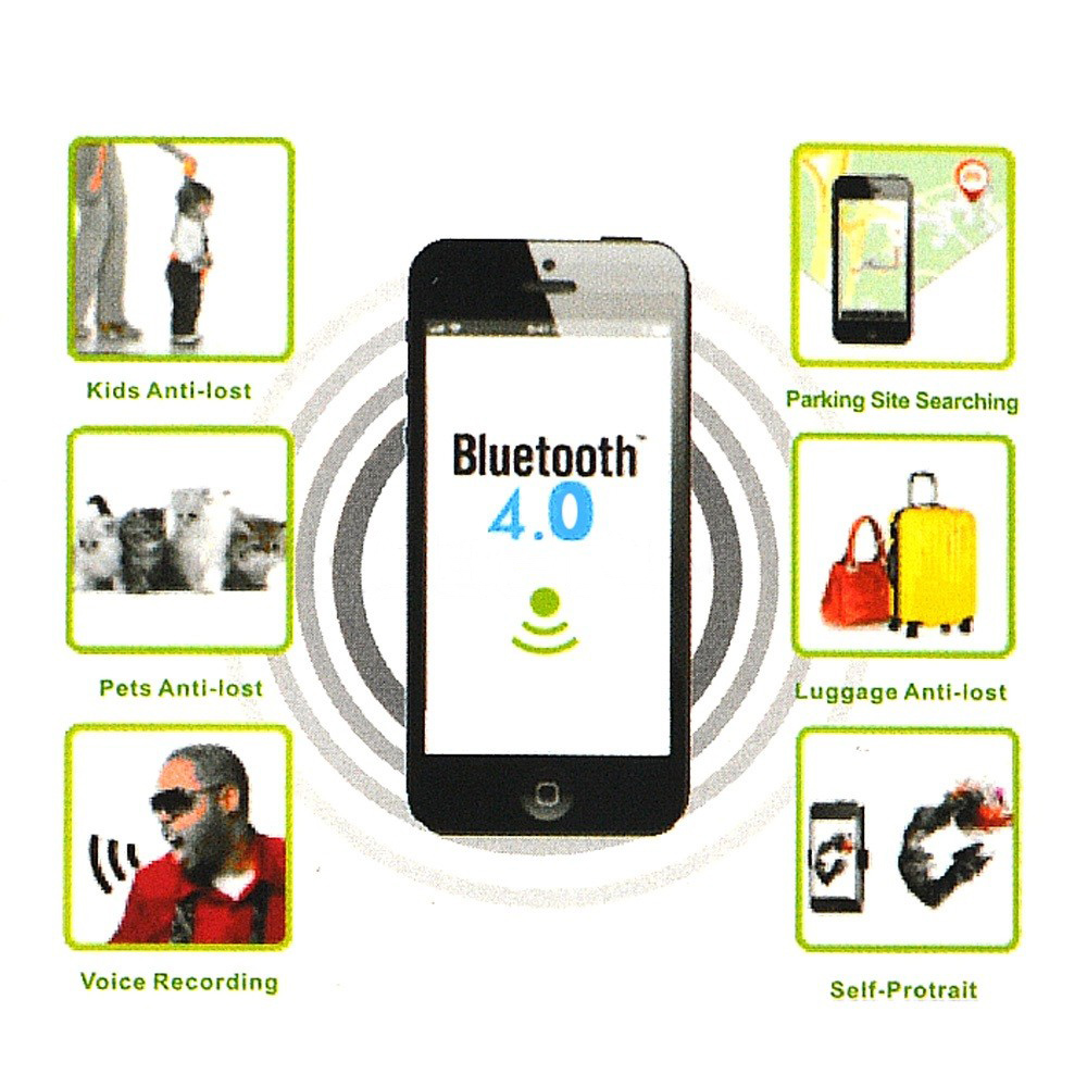 Wireless Smart iTag Tag Bluetooth Tracker Child Kid Bag Luggage Pet Key Finder anti-lost alarm Voice Record For iPhone Samsung