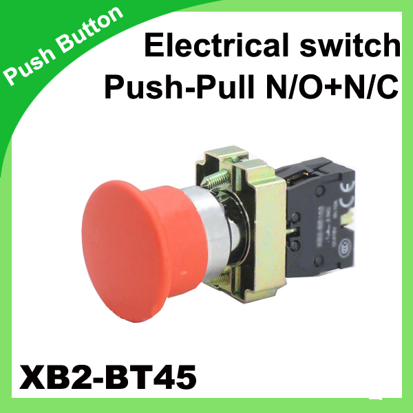 Красный xb2-bt45 реле давления N/O + n/c push-pull кнопочный переключатель гриб микропереключатель