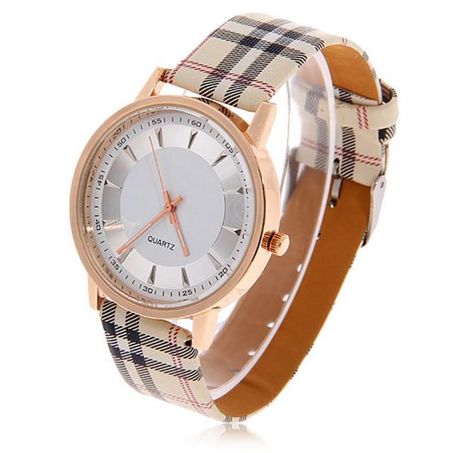 Zegarek damski Geneva kratka a' la Burberry różne kolory