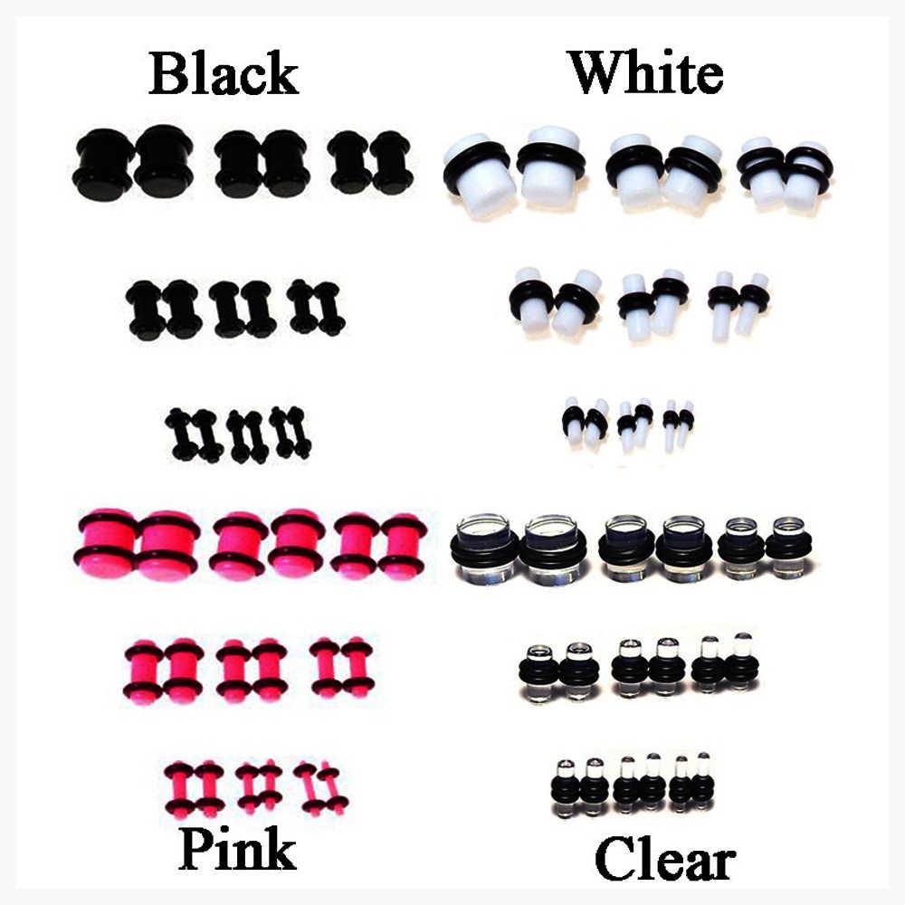 1 paire Kit de bouchons de Tunnel de jauge d'oreille en acrylique UV expanseur Tunnel de chair piercing bijoux 1.6mm-10mm