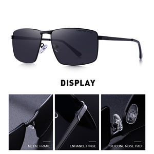Image 2 - MERRYS DESIGN Men Classic Rectangle Sunglasses Aviation Frame HD Polarized Sunglasses For Men Driving UV400 Protection S8283