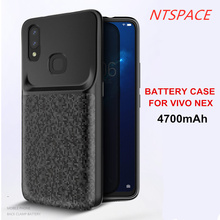 NTSPACE 4700mAh Backup Power Bank Charger Cover For VIVO NEX Battery Case Ultra Slim Shockproof Back Clip Charging Cases