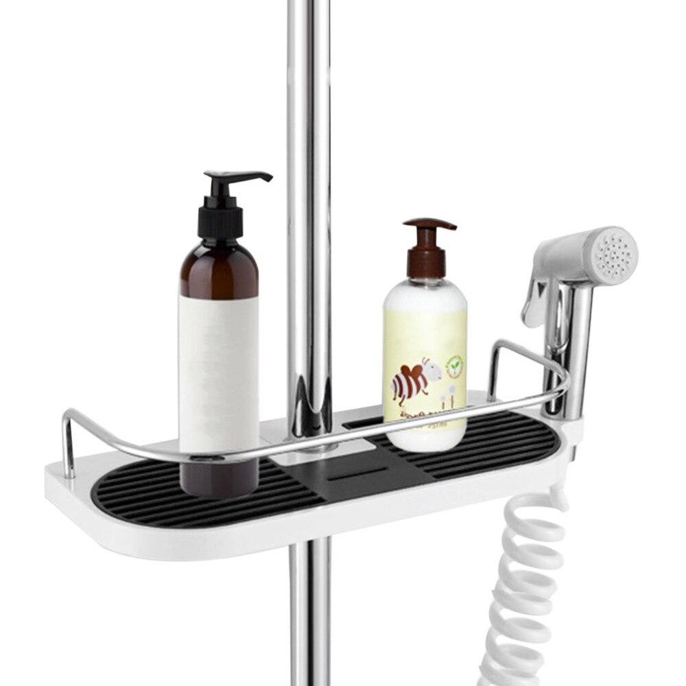Многофункциональный Ванная комната хранения держатель стойки мыло шампунь лоток Туалет полки Showerhead подъема бар установлен Насадки для душ...