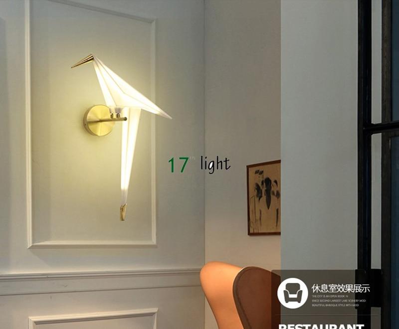 Moderne Lampen 17 : Moderne nordic walll lampe original led lampe für schlafzimmer