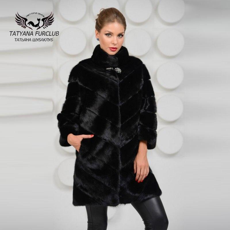 Mink Coat Value >> Us 1025 18 35 Off Tatyana Furclub Luxury Mink Coat With Collar New Rich Real Value Mink Coat Female Fur Coat Natural Fur Women S Mink Fur Coat In