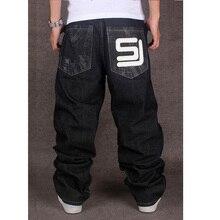 Мужские черные мешковатые джинсы в стиле хип-хоп, дизайнерские брендовые штаны CHOLYL для скейтборда, свободные стильные настоящие хип-хоп джинсы для мальчиков