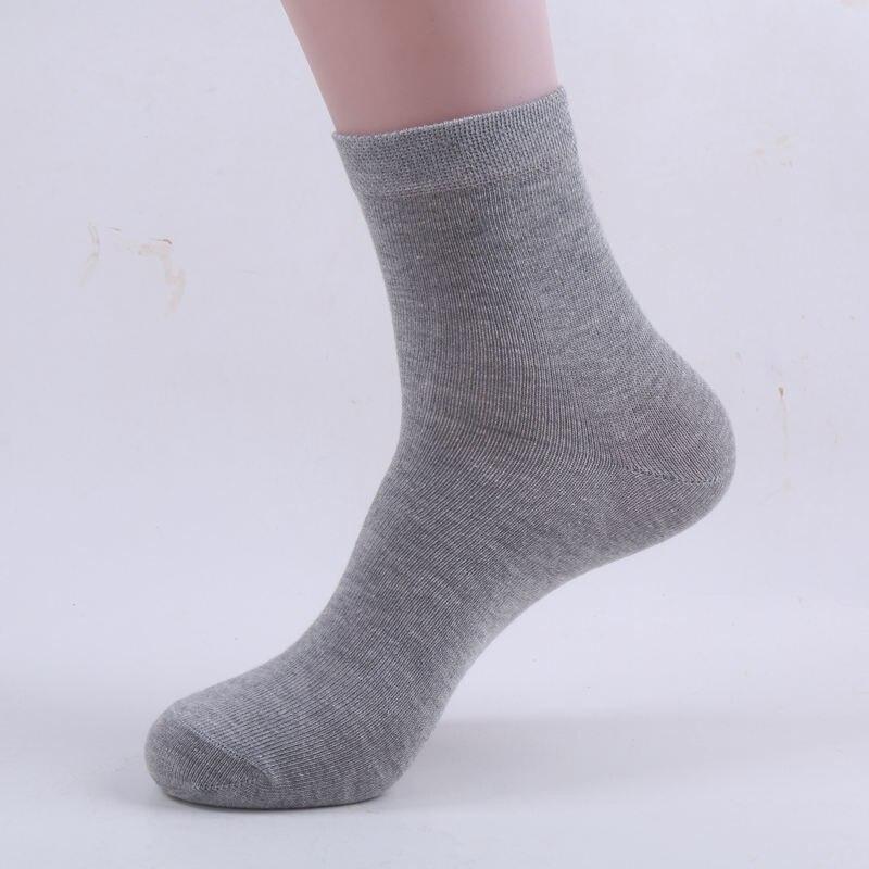 1 Paar Klassische Männer Socken Einfarbig Casual Kleid Bussiness Socken Für Männer Sokken Crew Schwarz Weiß Grau Chaussette Homme Baumwolle Stabile Konstruktion