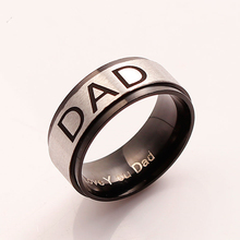 DoreenBeads 2017 DAD Letters Ring For Men Jewelry Fashion Stainless Men's Rings Steel Silver Color Classic Father's Day Gift